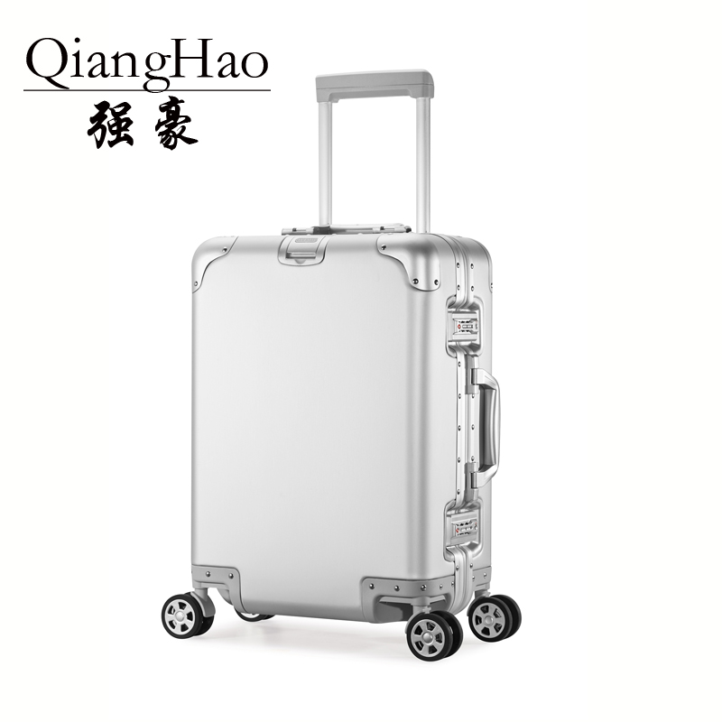 20 24 Matte 100% Aluminum Luggage Suitcase Travel Traveling Trolley Rolling Spinner Hardside Carry On Luggage Suitcase