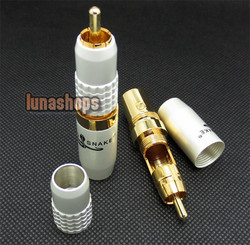 LN003281 1 Pair Golden plated Goldsnake PA-4d4 HiFi Plug Cable Connector RCA male adapter