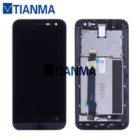 NEW 5 Tested LCD For ASUS Zenfone 2 ZE500CL LCD Display Touch Screen Digitizer With Frame