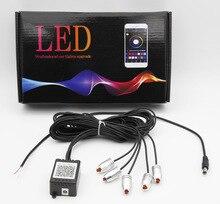 6 м звук активных RGB светодиодный салона Свет Многоцветный EL неон полосы света Bluetooth телефон приложение Управление Атмосфера свет 12 В