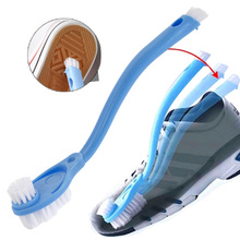 New Double Long Handleshoe Cleaning Brush Shoe Cleaner Washing Toilet Lavabo Dishes Shoes Clean Wash Home Tools