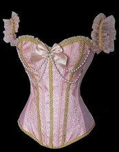 Waist Training Corsets 668 Pink Sleepwear Sexy Women Corset Bustier Tops Plus Size Bustiers &