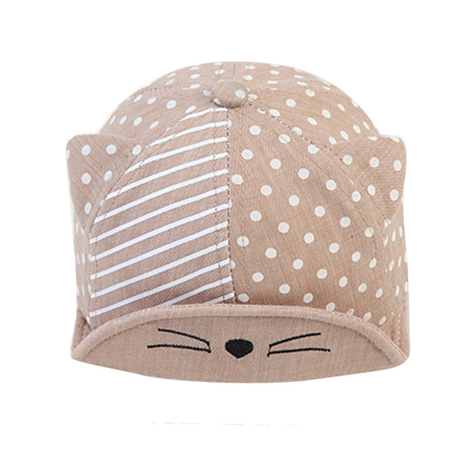 a257e188e64 Child Kid Baby Cats Striped Soft Brim Flanging Sun Hat Peaked Cap tennis  hats 2017 golf deporte