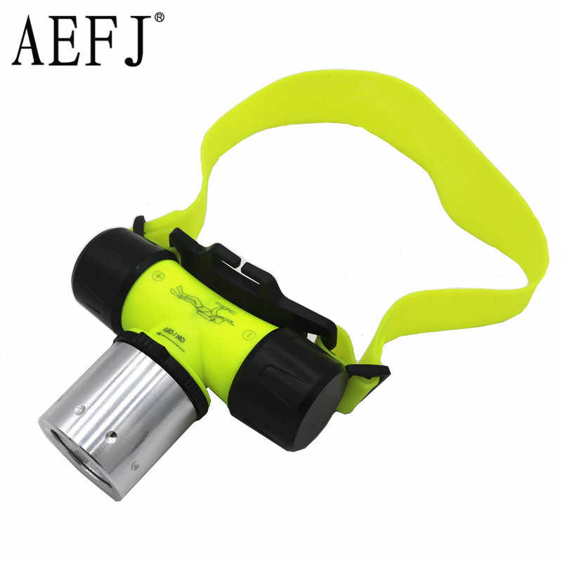 3000LM LED Underwater Waterproof Lamp Diving Headlamp Flashlight Torch Headlight