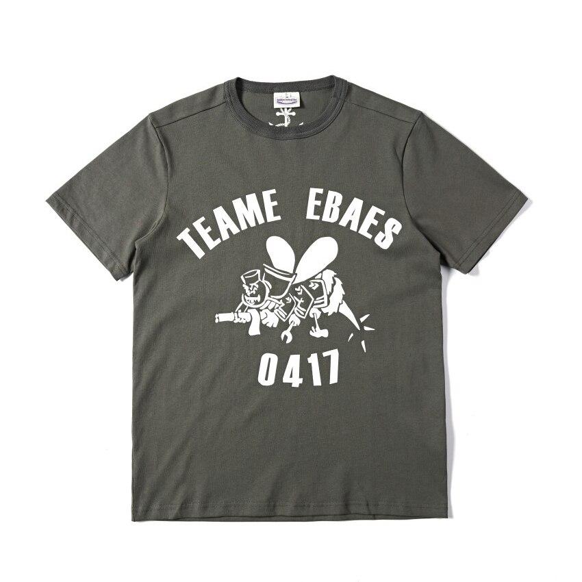 T-shirt imprimé graphique rétro 40 s Seabee Slim Fit été t-shirt Vintage pour hommes