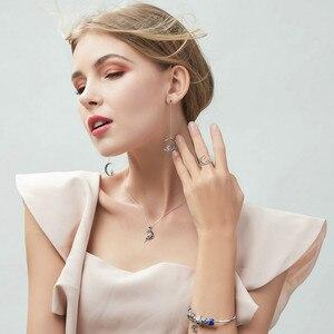 Image 2 - BAMOER colliers en argent Sterling offre spéciale 100% 925, pendentif fée porte bonheur en lune bleue, bijoux en argent Sterling pour femmes, cadeau, SCN244