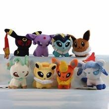 Cartoon Plush Toys 8 styles Umbreon Eevee Espeon Jolteon Vaporeon Flareon Glaceon Leafeon Pikachu 5 Soft
