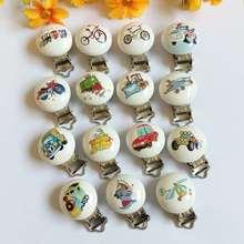 Случайный набор из 5 шт., детские соски-пустышки с зажимом, соски-пустышки с цветочным узором, зажимы для пустышки для малышей, застежки-держатели, аксессуары