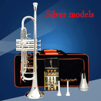 2018 New professional Senior Bach trumpet LT180S 43 ouble silver plated Brass Musical Instrument gold trompete trompeta part