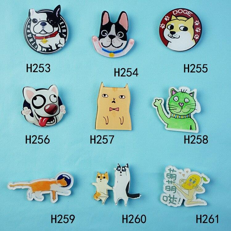 Xz023 прилив продукт брошь рюкзак аксессуары собака стильная футболка с изображением персонажей видеоигр животных yakeli значки