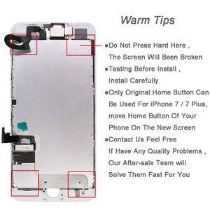 Image 5 - أجزاء كاملة لشاشة LCD 7 7G 7 plus ، مع سماعة الكاميرا الأمامية المتكلم لوحة الظهر عرض قطع غيار للشاشة تعمل باللمس