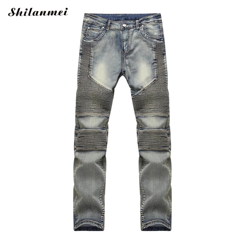 ФОТО 2017 fashion style skinny jeans Men's Jean high quality Denim jeans leisure standard straight cylinder Mens Washed nmd Jeans