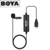 New BOYA BY DM2 Lavalier Microphone Clip on Mic with USB Type C Interface for Android Smartphones Huawei Mate 10 Samsung Xiaomi