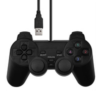 1 шт. Вибрационный джойстик игровой контроллер геймпад USB проводной джойстик для ПК компьютера ноутбука