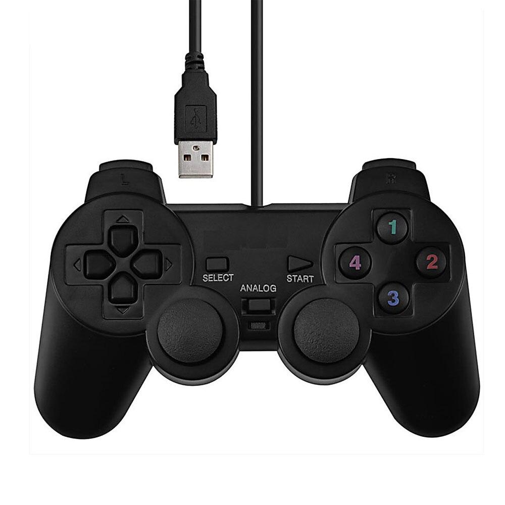 1 pc Vibração Joystick Joypad Gamepad Controlador de Jogo USB Com Fio Para PC Computador Portátil
