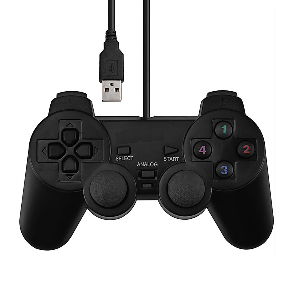 1PC Vibration Joypad Game Controller Gamepad USB Wired Joystick For PC Computer Laptop for pc retro handheld usb gamepad classic controller for saturn system style high quality wired game controller joypad for mac