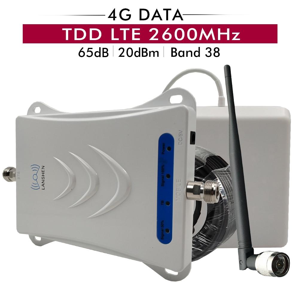 Amplificateur de Signal Mobile 4G TD LTE 2600 amplificateur de Signal Mobile (bande LTE 38) TDD 2600 répéteur de Signal de téléphone portable ensemble complet pour l'arabie saoudite