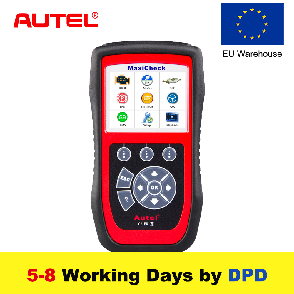 купить Autel MaxiCheck Pro Car Diagnostic Tool OBD2 Scanner EPB/ABS/SRS/SAS/Airbag/Oil Service Reset/BMS/DPF Code Reader Update Online недорого
