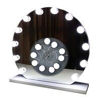 10 PCS Waterproof Hollywood Vanity Lighted Makeup Mirror Light Kit LED Bathroom Vanity Light Bulb Fixture Strip Set for Makeup