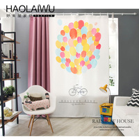 household products Children Cartoon balloon 3D printing Curtains Sheer Child Tulle Curtain Bedroom Kids Cortina Para Sala 30