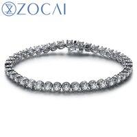 ZOCAI Real Natural 4,0 CT Diamant Certified IJ/SI in 18 Karat Weißgold (AU750) Armband S00200