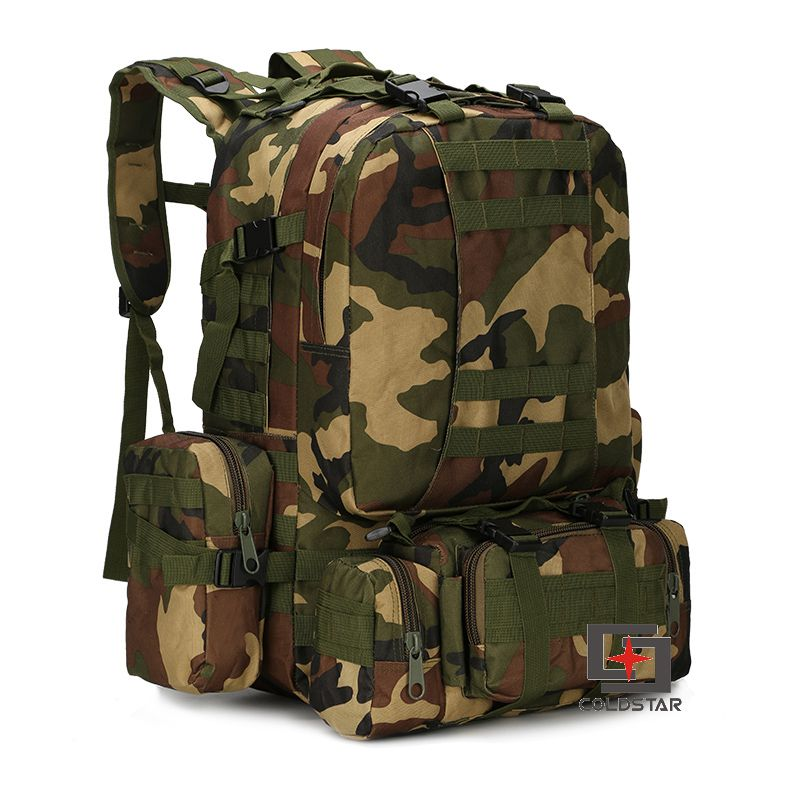 Woodland Camo Sports Outdoor Military Tactical Backpack Travel Bags High Quality Camping Bag Hiking Trekking Bagpack woodland camo unisex tactical assault backpack camping travel bag multicam combination mountaineering shoulders backpack