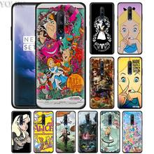 Alice Princess Alice in Wonderland Phone Case for Oneplus 7 7Pro 6 6T Oneplus 7 Pro 6T Black Silicone Soft Case Cover