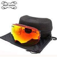Brand Ski Goggles Double Layers Anti Fog Big Vision Mask Motocross Eyewear Snow Snowmobile Snowboard Goggle