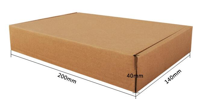 Yellow Corrugated Paper Watch Packing Box With Your LOGO Printed 1000pcs A Lot  (free Shipping)