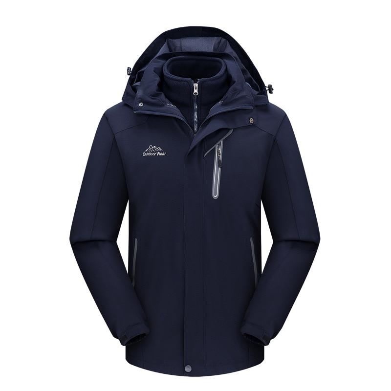 Men's Ski Waterproof Windproof Fleece Mountain Hooded Jackets Outdoor Coat Keep Warm Skiing Jackets For Snowboarding In Winter