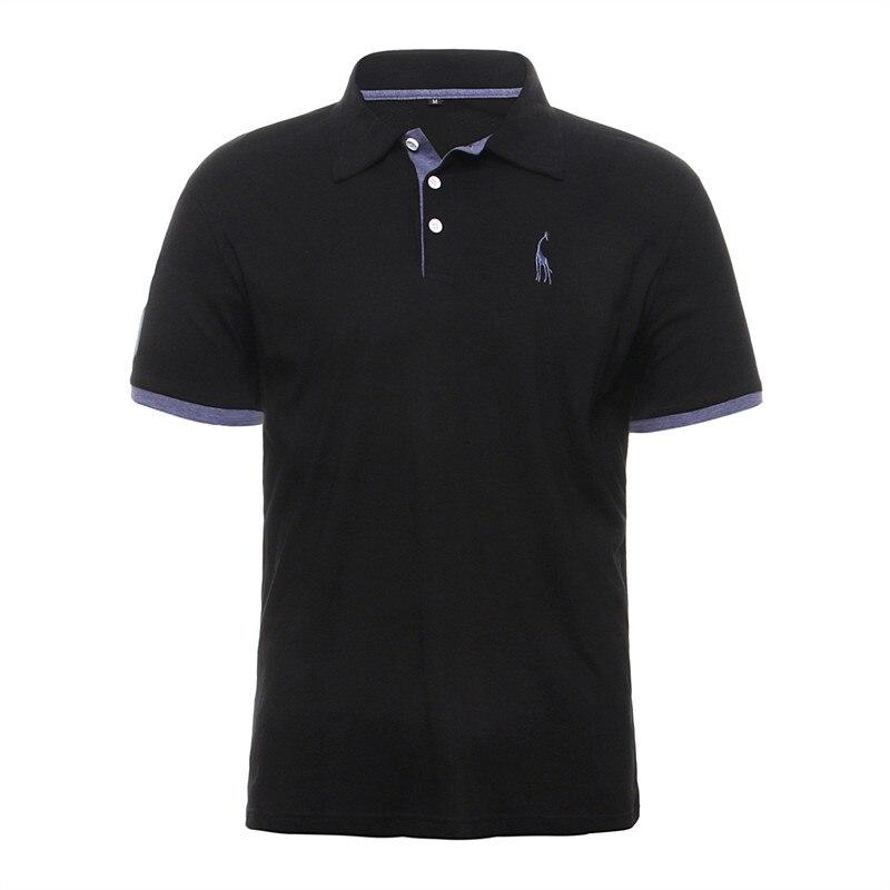 GustOmerD Summer 100 Cotton Polo Shirt Men Short Sleeve Casual Mens Shirts Camisa Polo Giraffe Soft