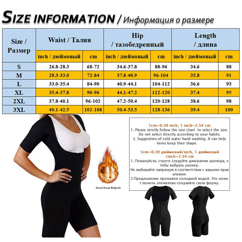 Full Body Shaper with Zipper Butt Lifter Waist Trainer Shapewear Postpartum Thigh Trainer Adjustable Bodysuit Neoprene Jumpsuits