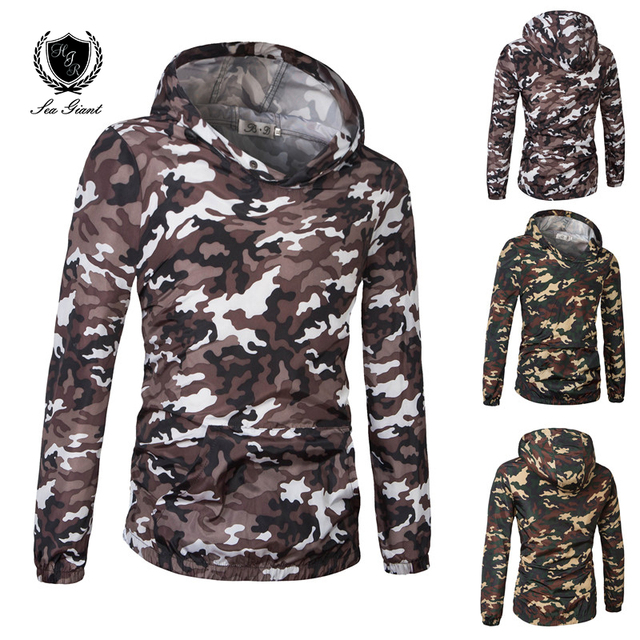 Polos chaqueta camuflaje Mans marca prendas de vestir exteriores chaqueta  universitaria para hombres otoño manga larga 2025f8689275e
