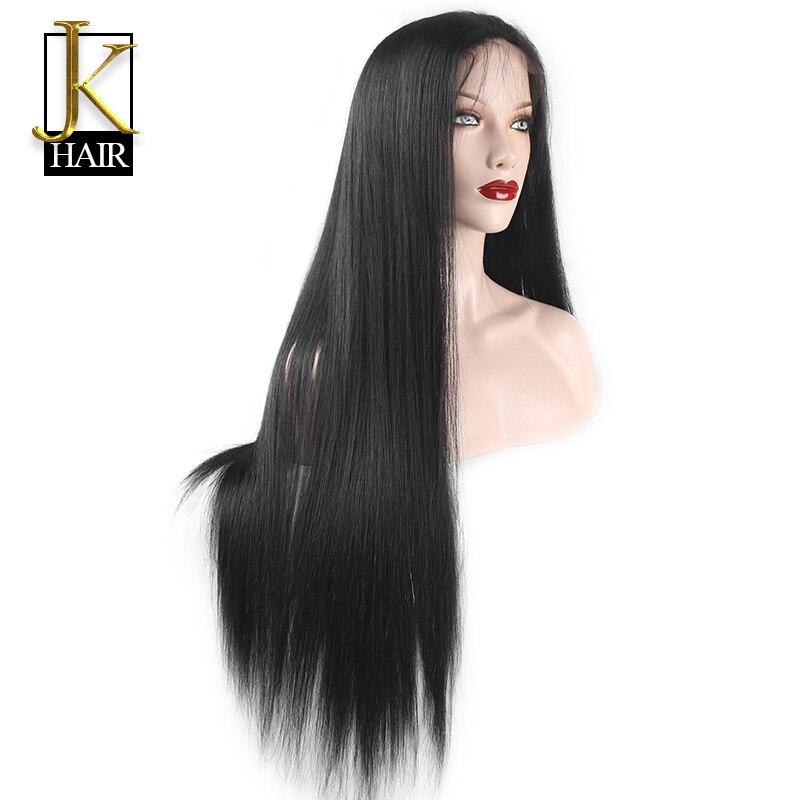 Glueless Long Straight Lace Wigs Remy Brazilian Lace Front Human ...