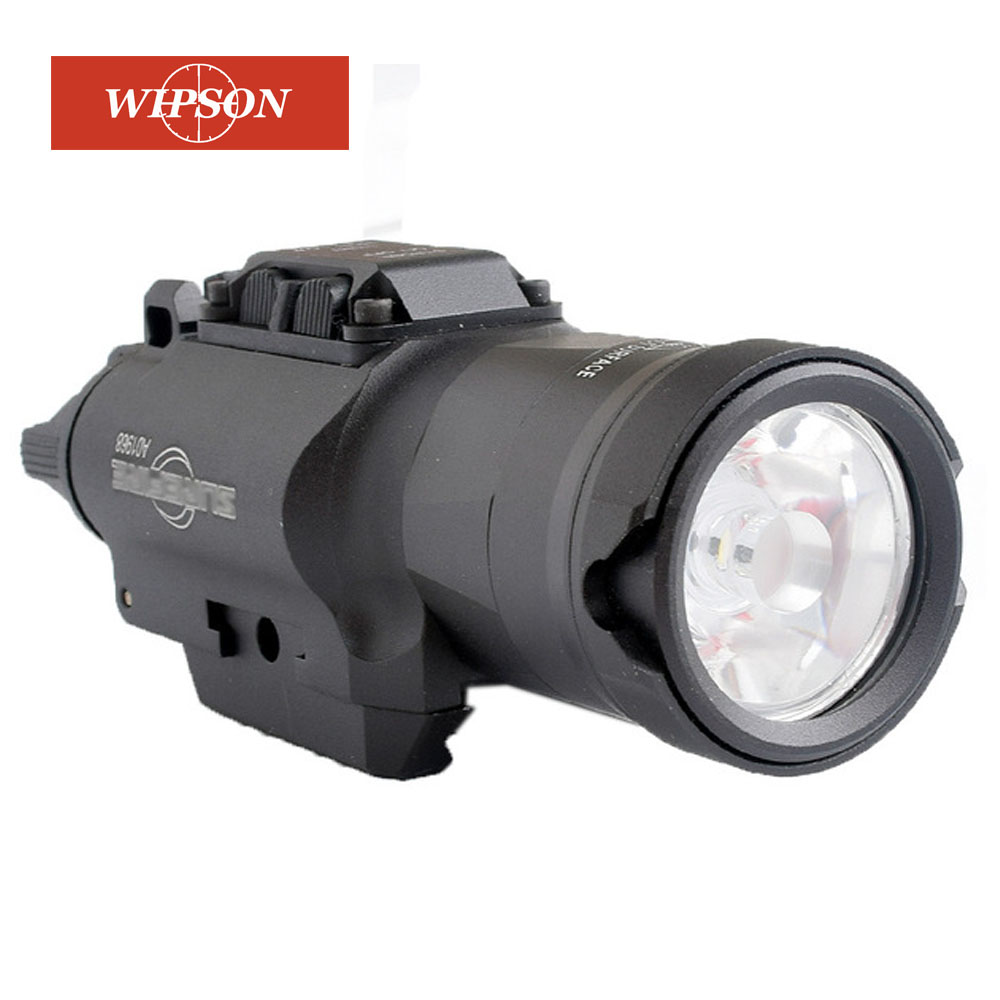 WIPSON XH35 Weapon Light Tactical Flashlight Airsoft Dual Output Ultra-High White LED Brightness Strobe Adjustment Weaponlight H