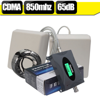 450 Square Meters Coverage LCD Display GSM CDMA 850 3G UMTS 850mhz Cellular Signal Booster 65dB