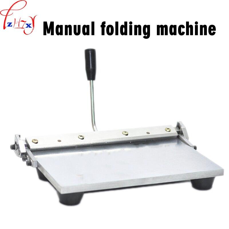 1 pc manuel bord machine à plier multi-fonction 14 pouces en cuir portefeuille sac à main avec plastique machine à brider manuel outils de pliage