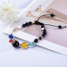 Bracelets Fashion Jewelry Galaxy Solar System Bracelet For  Men