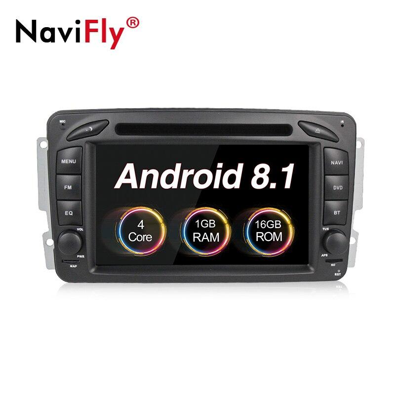 Nouveauté! lecteur radio dvd pour voiture Android 8.1 pour Mercedes Benz W209 W203 ML W163 W463 Viano W639 Vito W168 gps multimédia automatique