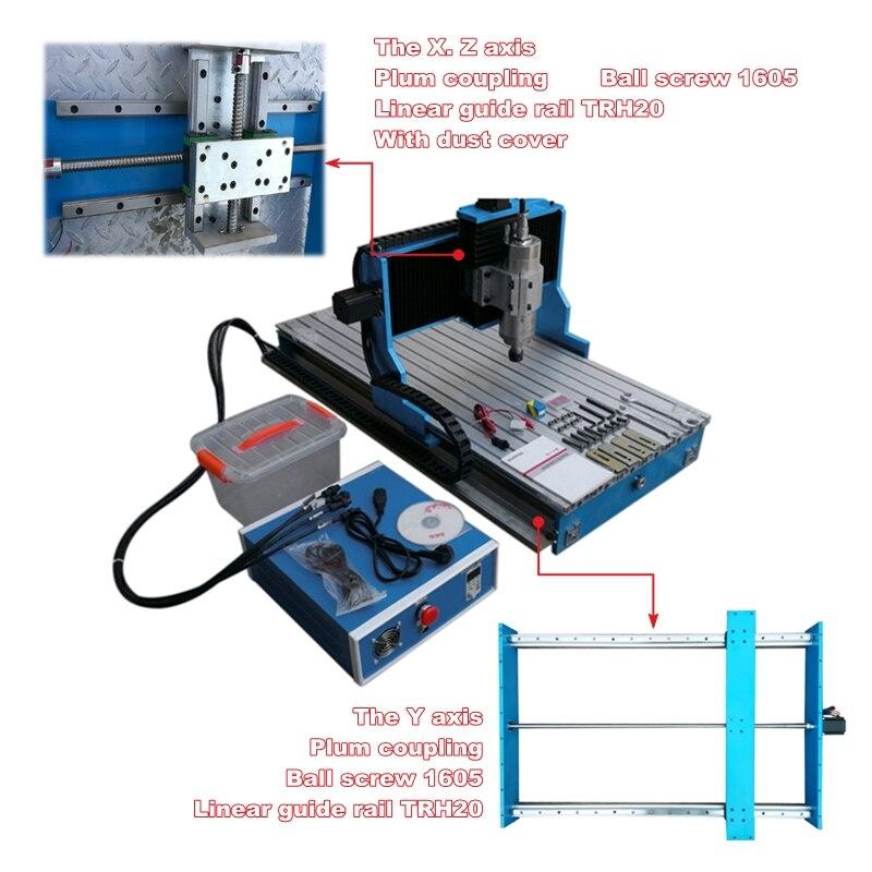 CNC 3040 3 4 оси 2200 Вт древесины фрезерные сверлильный станок с вкладышем направляющей USB LPT порт