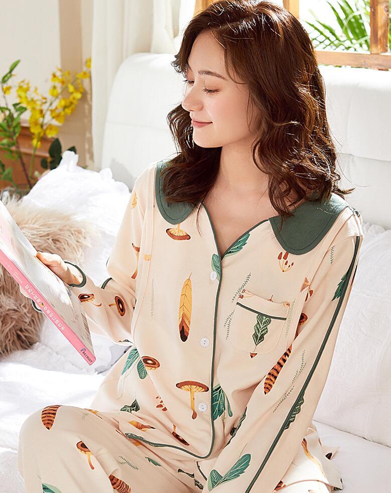 2018 winter high grade pregnant women pajamas ice silk breast feeding sundresses breastfeeding clothes ropa premama maternity : 91lifestyle