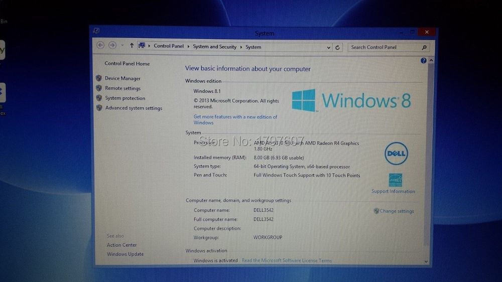 06 4210U YPRH para Dell Inspiron 3442 i5 2 7 GHz 6 YPRH