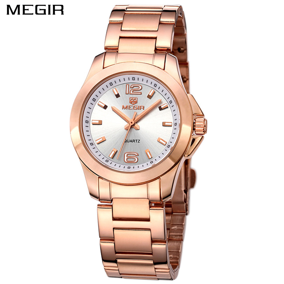 15c987bea72 MEGIR relógio das mulheres famosa marca de moda feminina pulseira de aço  inoxidável relógio de quartzo das mulheres relógios de pulso Sorte para as  mulheres ...