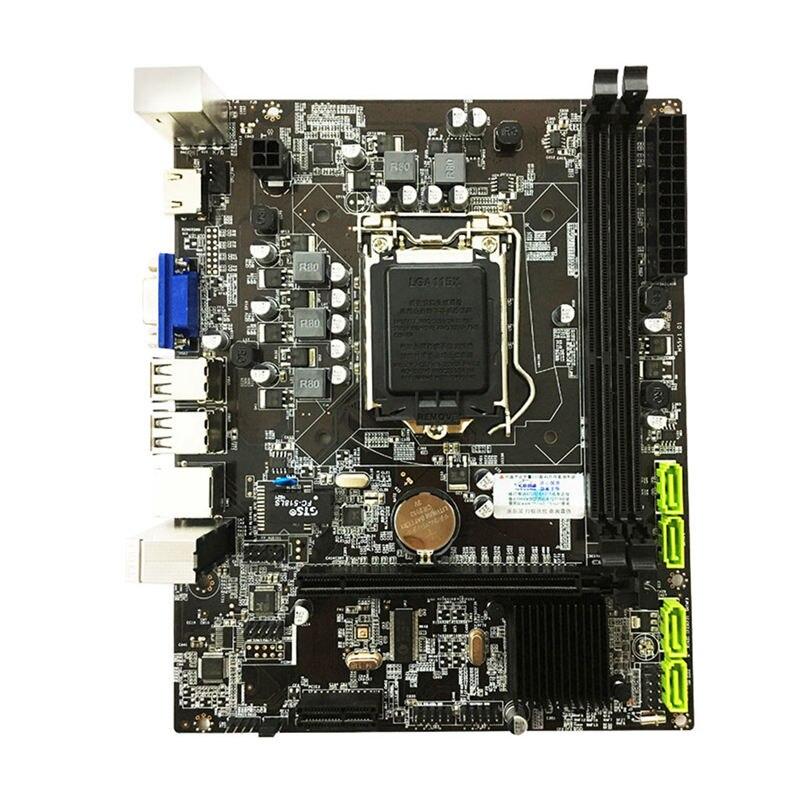PPYY NUOVO H55 Scheda Madre LGA1156 DDR3 16Gram Dual Sata 2.0 4xUSB 2.0 PCI Express Scheda Madre Supporta i3 I5 I7 CPU Per Computer-in Schede madre da Computer e ufficio su  Gruppo 1