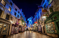 Harry Potter Castle Diagon Alley wall photography studio background High quality Computer print party backdrop