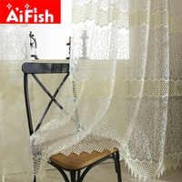 Europe Style White Elegant High Grade Embroidery Window Screens Sheer For Living Room Bedroom Luxurious Curtains