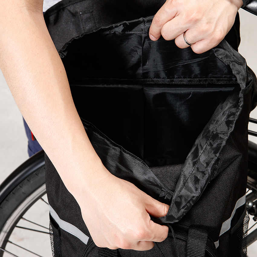 אחורי אופני סל אופניים מתלה מטען שקית עמיד למים רעיוני גדול קיבולת רכיבה על אופניים הרי אופני תא מטען אחורי מתלה מושב שקיות