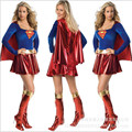 high quality Women Supergirl  halloween costumes Womens Cosplay Sexy Halloween Adult Costume Fancy Dress Clubwear Party Wear
