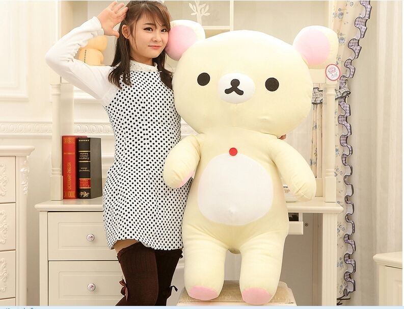 big lovely plush happy bear toy creative white easily bear doll bear toy gift about 110cm 0152 new creative plush bear toy cute lying bow teddy bear doll gift about 50cm