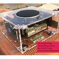 Caixa do computador HTPC 1037u E350 chassis Htpc mini personalizado vidro orgânico transparente I5 I3 windows pc caso